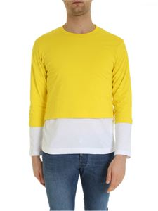 Comme Des Garçons Shirt  - Overlaid t-shirt in yellow and white