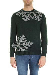 Brooks Brothers - Snowflakes pullover in green