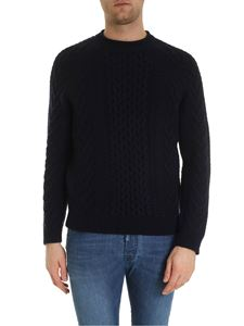 Brooks Brothers - Embossed knitting pullover in blue