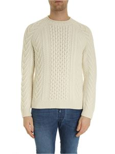 Brooks Brothers - Embossed knitting pullover in ivory color