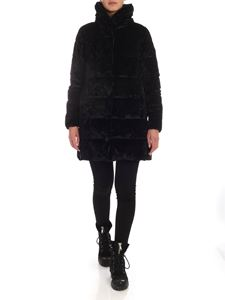 Save the duck - Black chenille down jacket