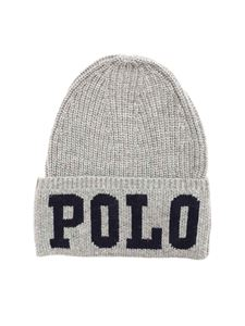 POLO Ralph Lauren - Blue logo beanie in grey