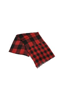 Woolrich - Check print foulard in black and red