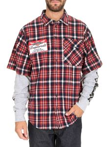 Dsquared2 - Cotton Check short sleeved shirt in red