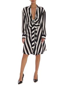 MSGM - Striped dress in black and white