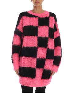 MSGM - Pullover long fit bicolor effetto tricot