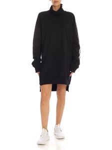Y-3 Yohji Yamamoto - 3 stripes turtleneck dress in black