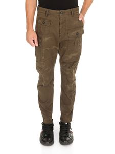 Dsquared2 - Distressed Cargo Pants in army green
