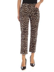 Michael Kors - Animal print trousers in shades of brown and black