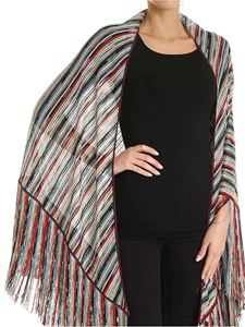 Missoni - Multicolor corduroy striped effect knitted stole