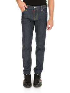 Dsquared2 - Resin Treatment 3D slim jeans in dark blue