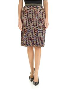 Missoni - Multicolor knitted knee-length skirt