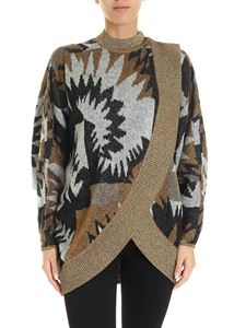 Missoni - Lamé inserts cardigan in black and white