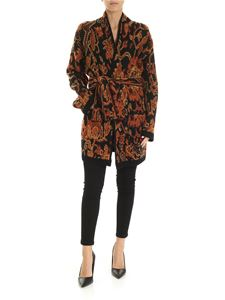 Etro - Contrasting knitted cardigan in black