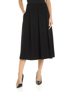 S Max Mara - Vanadio midi skirt in black