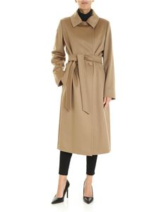 Max Mara Studio - Collage double-breasted coat in camel color