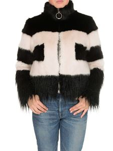 Elisabetta Franchi - Logo eco fur in black and white