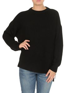 Elisabetta Franchi - Symmetrical sweater in black
