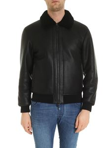 Z Zegna - Inner teddy effect sheepskin in black
