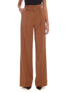 Sportmax - Sportmax Code Effetto trousers in camel color