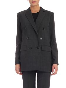 Michael Kors - Checkered double-breasted jacket in dark grey