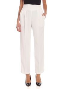 MSGM - Pleats crepe trousers in white