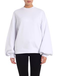 MSGM - Puff sleeve sweatshirt in white