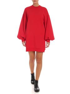 MSGM - Maxi felpa rossa con cut out