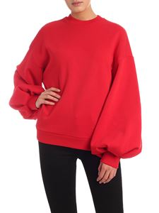 MSGM - Puff sleeve sweatshirt in red