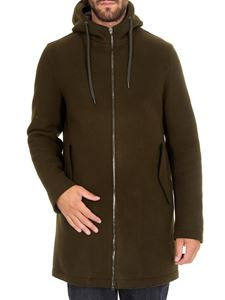 Herno - Green hooded coat