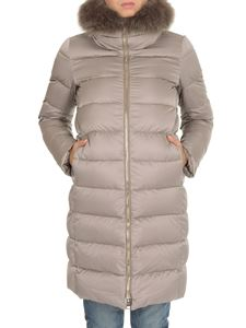 Herno - Fur insert down jacket in pearl gray