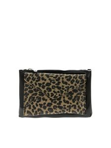 Gum Gianni Chiarini - Multiprint Large clutch bag in black