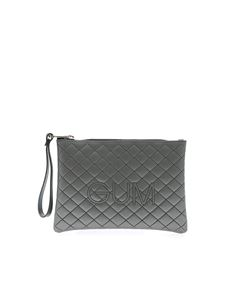 Gum Gianni Chiarini - Numbers Medium clutch bag in grey