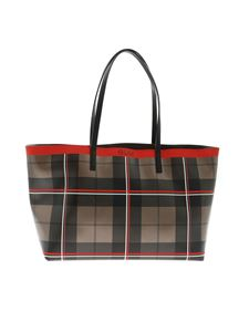 Gum Gianni Chiarini - Tartan shopper bag in bronze color