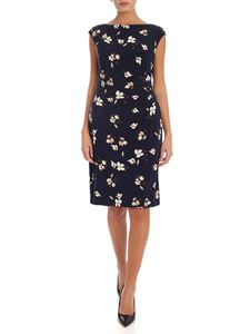 Lauren Ralph Lauren - Flower print midi dress in blue