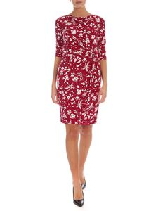 Lauren Ralph Lauren - Floral print midi dress in magenta red color