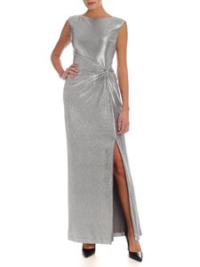 Lauren Ralph Lauren - Printed long dress in silver color