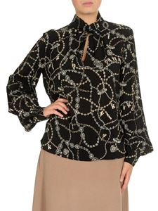 Pinko - Complici blouse in black with jewel print