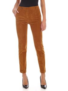 Incotex - Ocher colored chenille trousers