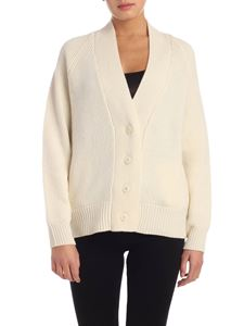 Woolrich - Cardigan in ivory color with tone-on-tone buttons