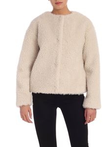 PS by Paul Smith - Teddy-effect jacket in ivory color