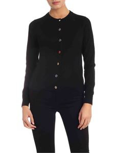 PS by Paul Smith - Mismatch button cardigan in black