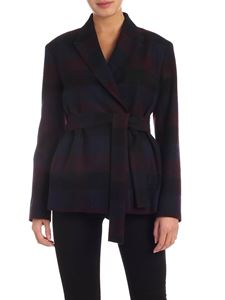 PS by Paul Smith - Double-breasted jacket in black with check print