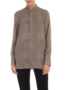 POLO Ralph Lauren - Houndstooth printed blouse in beige