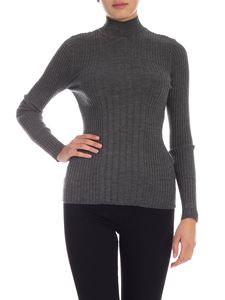 Etro - Silk and wool sweater in grey melange color