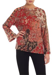 Etro - Printed T-shirt in shades of brown