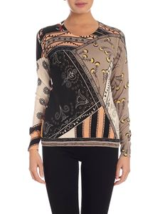 Etro - Patchwork print sweater in silk and cashmere