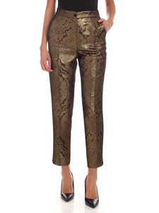 Etro - Jacquard trousers in shades of bronze