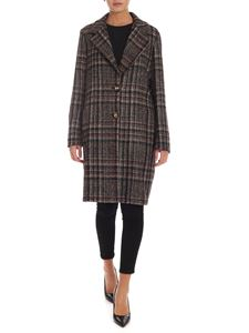 Barba - Coat in shades of blue brown and plum