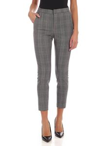 Barba - Check pattern trousers in melange grey color